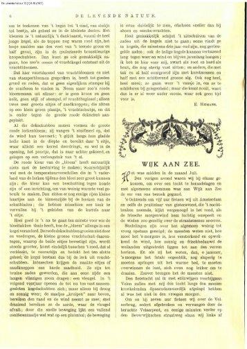 Koning, W. de (1907) Wijk aan Zee. DLN 12: 6-10 - Duinen en mensen