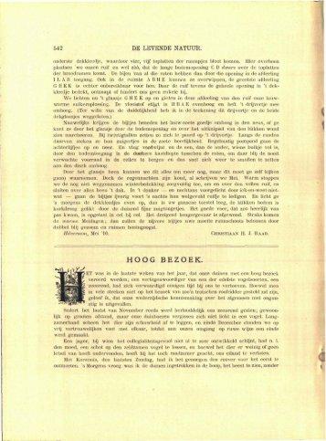 Drijver, J., 1910. Hoog bezoek (zeearend Texel). - Duinen en mensen