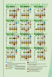 Afvalkalender 2012 - Gemeente Duiven