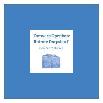 'Ontwerp Openbare Ruimte Dorpshart' - Gemeente Duiven