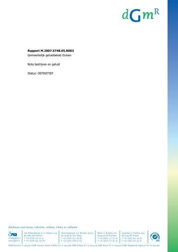 nota bedrijven en geluid (pdf) - Gemeente Duiven