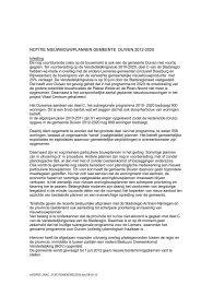 Notitie woningbouwplannen gemeente Duiven 2012-2020