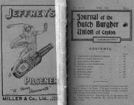Part 4 - Dutch Burgher Union of Ceylon