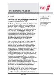 Diese Medieninformation als PDF (170 kB) - DVG Duisburger ...