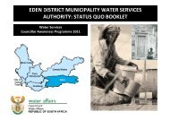 Eden 18112011.pdf - Department of Water Affairs and Forestry