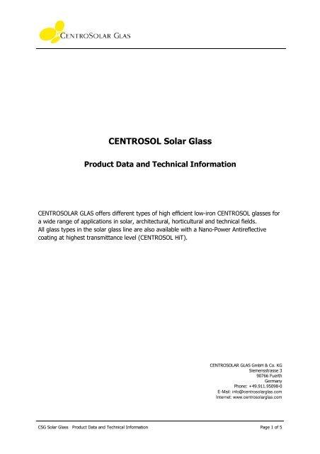 Product data sheet Hit 2