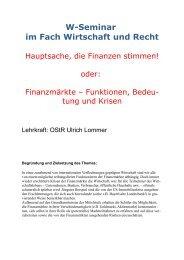 W-Seminar im Fach Wirtschaft und Recht - Asamnet