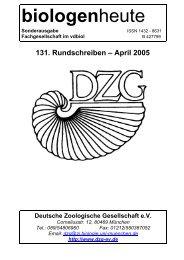 117. Rundschreiben - April 1998 - Deutsche Zoologische Gesellschaft