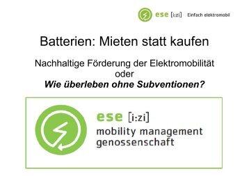Batterien: Mieten statt kaufen - e-connected