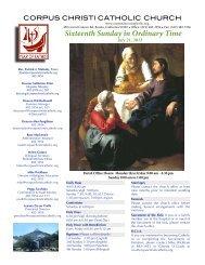 CORPUS CHRISTI CATHOLIC CHURCH - E-churchbulletins.com