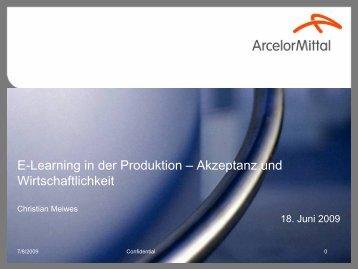 Akzeptanz und Wirtschaftlichkeit - e-Learning Baltics