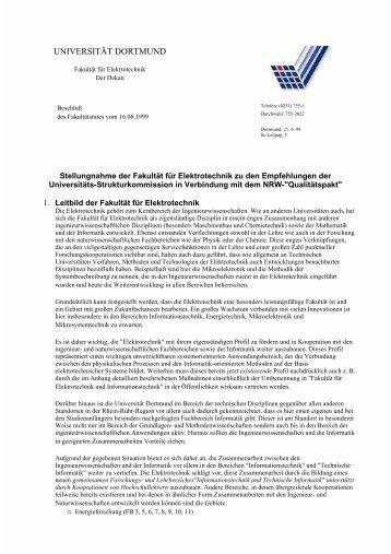 UNIVERSITÄT DORTMUND - Fakultät für Elektrotechnik und ...