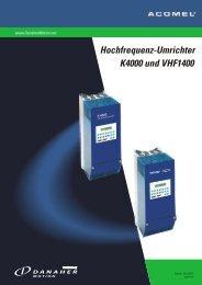 Hochfrequenz-Umrichter K4000 und VHF1400 - BIBUS SK, sro