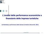 L'analisi delle performance economiche e finanziarie delle imprese ...