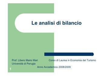 1° parte - Facoltà di Economia del Turismo di Perugia