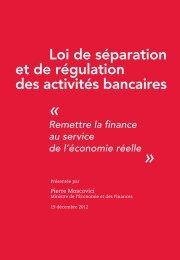 Séparation et régulation des activités bancaires - economie.gouv