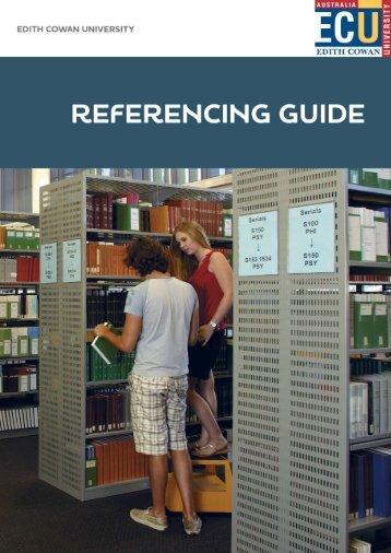 ECU Referencing Guide - Edith Cowan University