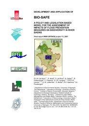 IRMA-SPONGE No - European Centre for River Restoration