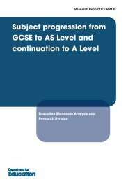 Subject progression from GCSE to AS Level and continuation to A ...