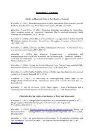 Publication list of the EAPA economists (PDF) - Eidgenössische ...