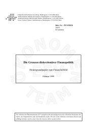 Die Grenzen diskretionärer Finanzpolitik - Eidgenössische ...