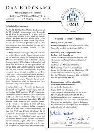 Zeitschrift-1 2013 - Ehrenamt für Darmstadt
