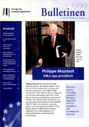 EIB Bulletinen 3-1999 (n°103) - European Investment Bank