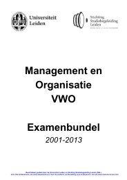Management en Organisatie VWO Examenbundel - Alleexamens.nl ...
