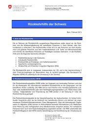 Factsheet Rückkehrhilfe - EJPD - CH