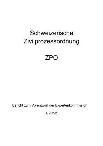 Bericht zum Vorentwurf der Expertenkommission Juni ... - EJPD - CH