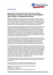 Müttergenesungswerk fordert wasserdichte Regelun- gen für Mütter ...