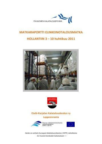 katso raportti - Etelä-Karjalan kalatalouskeskus ry
