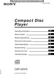 Compact Disc Player - Electromanuals.org