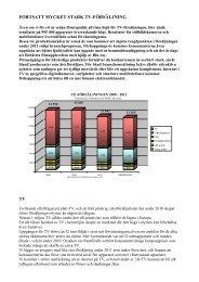 Försäljningen 2010 - Elektronikbranschen