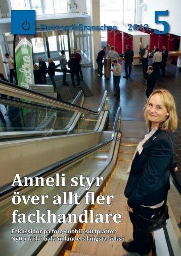 Anneli styr över allt fler fackhandlare - Elektronikbranschen