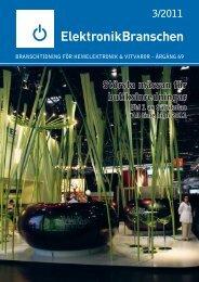 3/2011 Största mässan för butiksinredningar - Elektronikbranschen