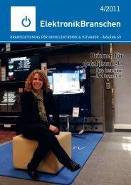 4/2011 Brinner för detaljhandeln - Elektronikbranschen