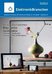 5/2012 Dags förena fackhandeln - Elektronikbranschen
