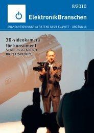8/2010 3D-videokamera för konsument - Elektronikbranschen