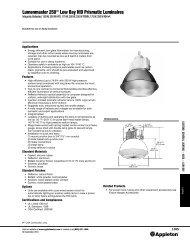 Lumenmaster 250™ Low Bay HID Prismatic Luminaires - Emerson ...
