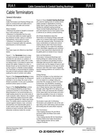 Cable Terminators and Conduit Sealing Bushings - Emerson ...