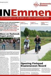 Opening Fietspad Klazienaveen Noord - Gemeente Emmen