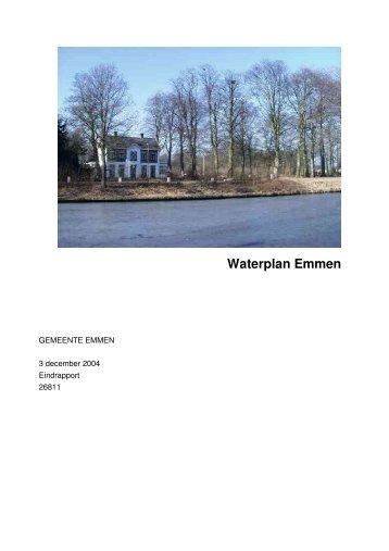 Waterplan Emmen - Gemeente Emmen