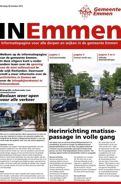 Herinrichting matisse- passage in volle gang - Gemeente Emmen