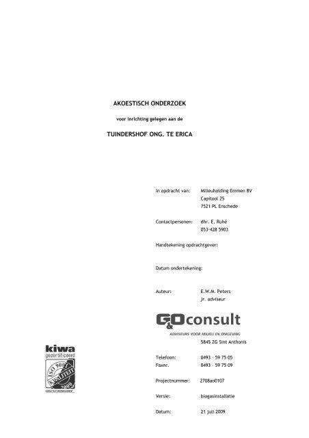 rapport akoestisch onderzoek.versie 4 - Gemeente Emmen