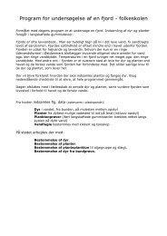 Program for undersøgelse af en fjord - folkeskolen - Emu