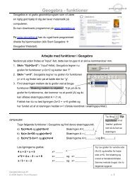 Geogebra - funktioner - Emu