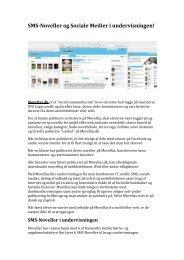 SMSNoveller og Sociale Medier i undervisningen! - Emu