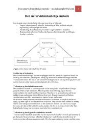 Den naturvidenskabelige metode – med eksempler fra kemi - Emu
