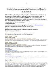 Studieretningsprojekt i Historie og Biologi - Emu